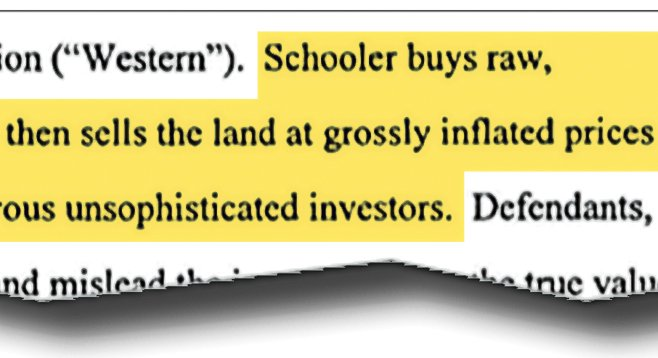 This excerpt from the Securities & Exchange Commission's complaint against Lou Schooler lists one of the fraudulent practices in which the Schooler brothers engaged.