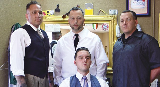 The barbers at dapper jays, where the beer runs cold and men can be men.