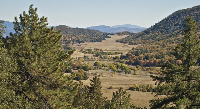 Mendenhall Valley, viewed from the Observatory Trail, is part of a working cattle ranch.