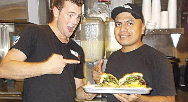 Tyler, Caesar, my sandwich