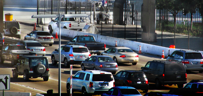 Cross-border traffic at El Chaparral has gradually been allowed to increase in density.
