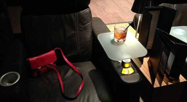 My seat, my purse, my cocktail