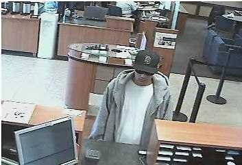 The man in this photo is wanted in connection with a bank robbery in Imperial Beach. Photo released by San Diego Sheriff's Dept.