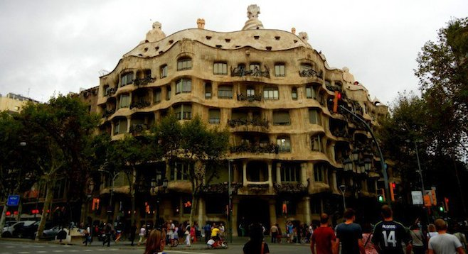 "With its flowing curves, Barcelona's Casa Milà is part of the UNESCO World Heritage site ""Works of Gaudí."""