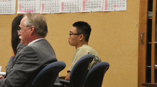 Jin Hyuk Byun in court. Photo Weatherston.