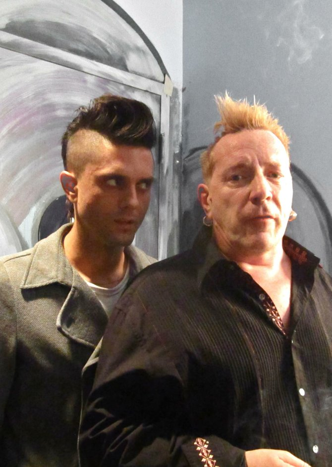Justin Pearson and John Lydon - Photo: Jüs Alexandra Percy