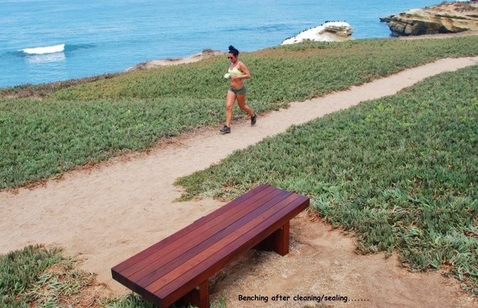 This is one of the benches after sealing ....