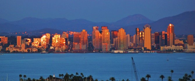 San Diego Skyline at Sunset ....