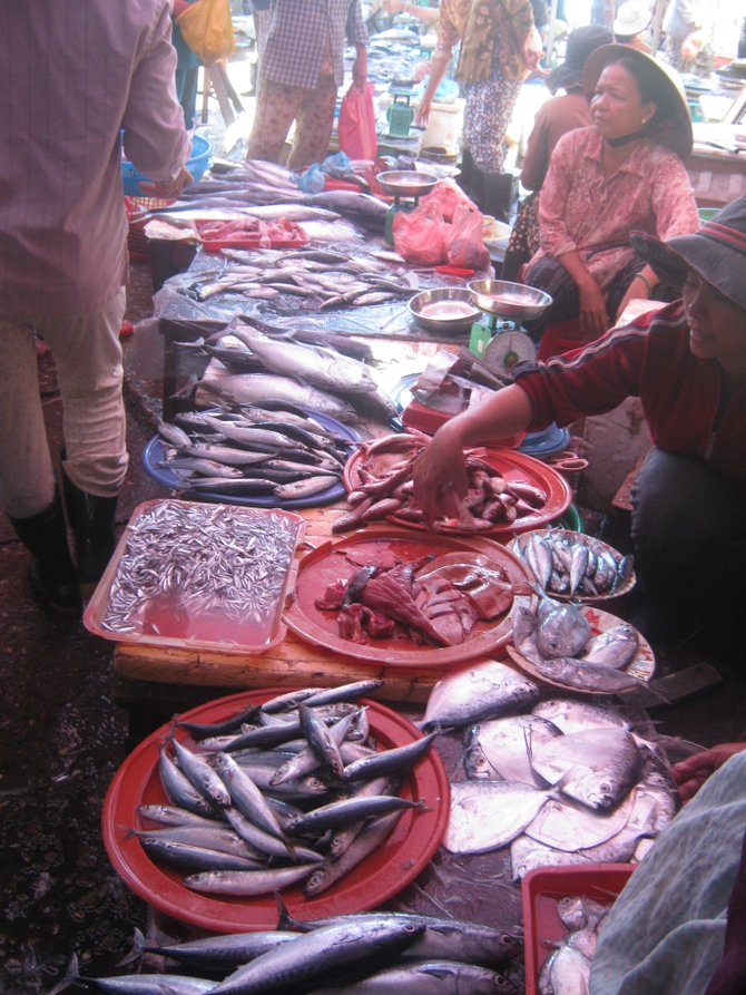 Fish market in Hoi An.