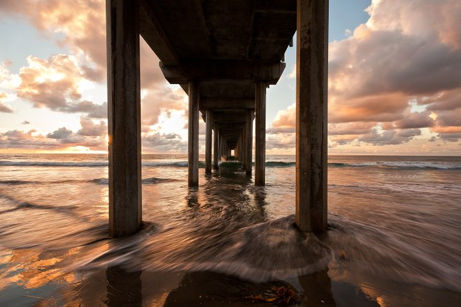 """Sundown at Scripps"" taken at Scripps Pier La Jolla, CA. Taken with Canon 5D Mark ii."