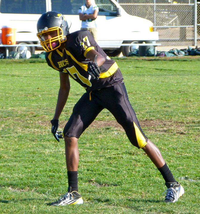 Mission Bay junior receiver Shaki Harvey