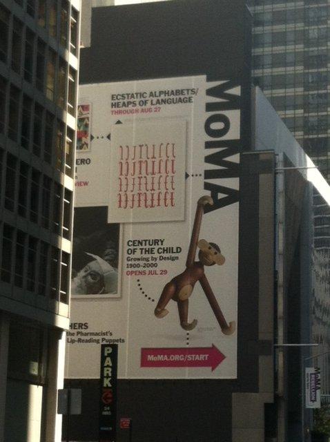Walking up to MoMA in midtown Manhattan.