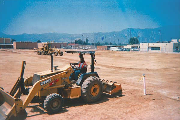 Between jail stints in 2003, the author worked a construction job at Lake Elsinore High School.