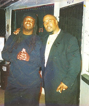 One month out of prison, the author (right) hangs out with his best friend and fellow former 47th Street Neighborhood Crips member Kenny Davis. Five months later, Davis was killed in a dispute.