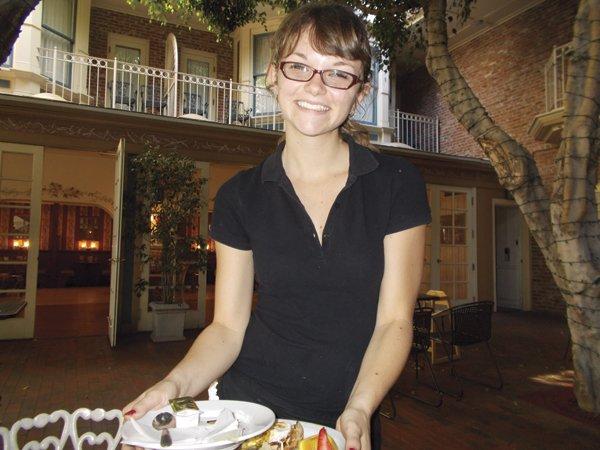 Hannah the waitress  recommends the roast  pork loin sandwich.