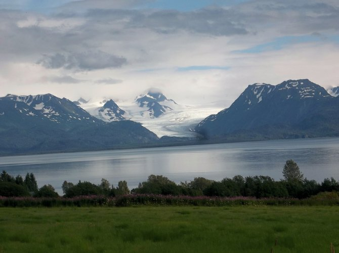 front-porch view in Homer, AK