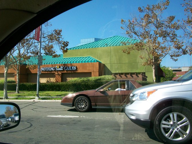 Getting hungry while stuck in traffic on Friars Rd. in Mission Valley.