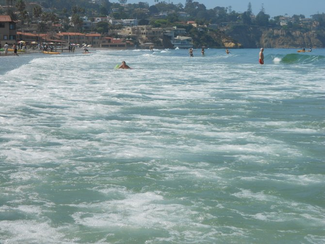 Summer fun at La Jolla Shores beach.