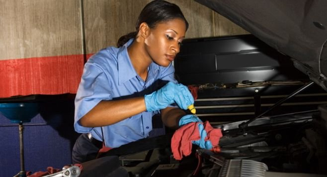 Image result for women in men profession  Mechanics