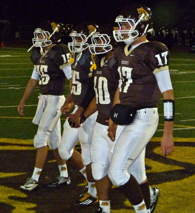 El Camino senior team captains (left to right) Chris Beauchamp, Justin Williams, Micah Sua and Kenny Kish