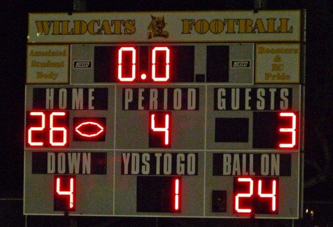 Final score - El Camino 26, Patrick Henry 3