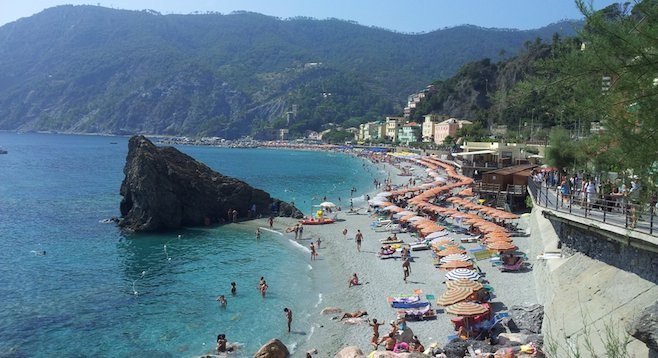 The largest of the five fishing villages that comprise Cinque Terre, Monterosso is an idyllic – if often crowded – setting for beachgoers.