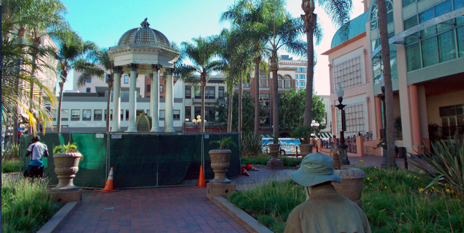 The Broadway fountain will be restored, and the former Robinsons-May/Sam Goody building will be razed.