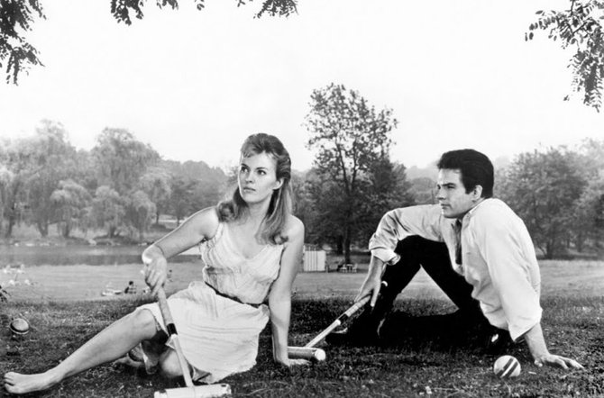 Jean Seberg and Warren Beatty.