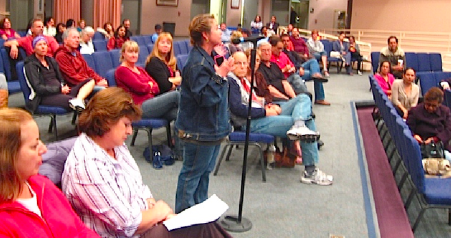 Sweetwater boardmember Bertha Lopez took the microphone and challenged Brand for bringing forward the iPad proposition without a thoughtful implementation plan.