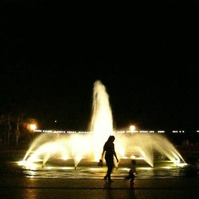 Balboa Fountain at Night.