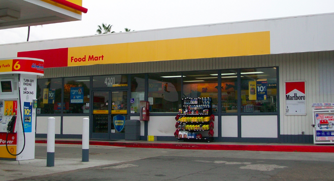 This gas station has been robbed three times in the past three years.