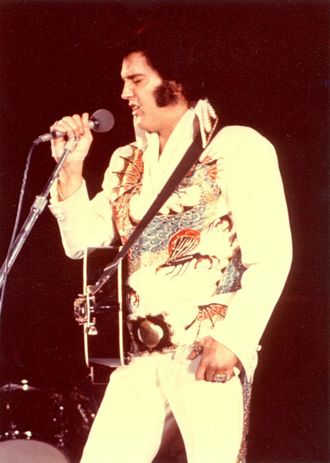 Don't blame Lansky for Presley's studded jumpsuit period.