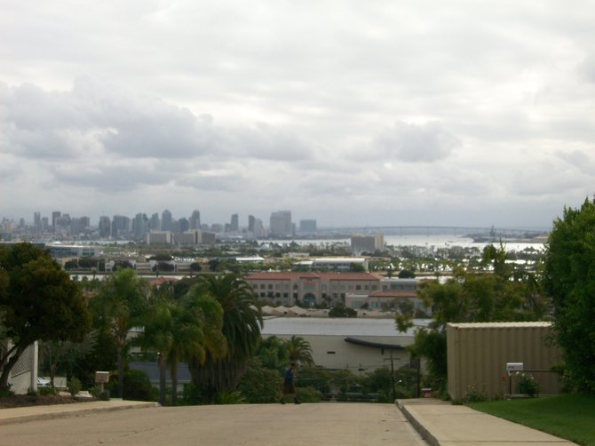 Overlooking downtown San Diego from the hills of Point Loma.
