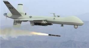 Predator drone in action