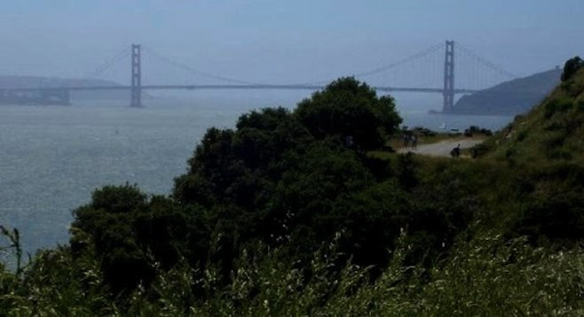 The Golden Gate from Angel Island's Perimeter Trail.