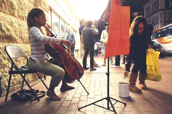 Jan Eli has raised over $18,500 for her UCSD tuition by busking.