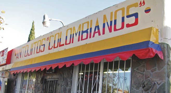 The Colombian restaurant's Imperial Avenue storefront
