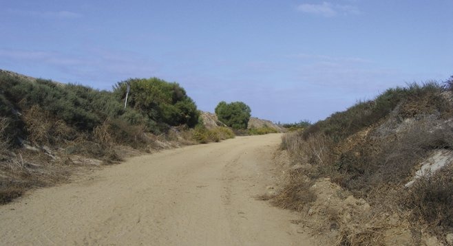 Two miles of sandy trail loops around the southern end of Mission Bay's Fiesta Island.