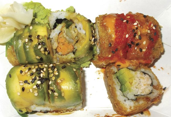 Sushi from a food truck…sounds bad, but tastes great