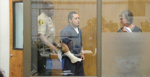 Jorge Lopez arraigned in Vista courthouse.  Photo Weatherston