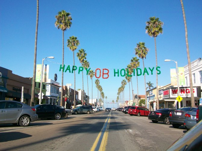 Holiday time in Ocean Beach.