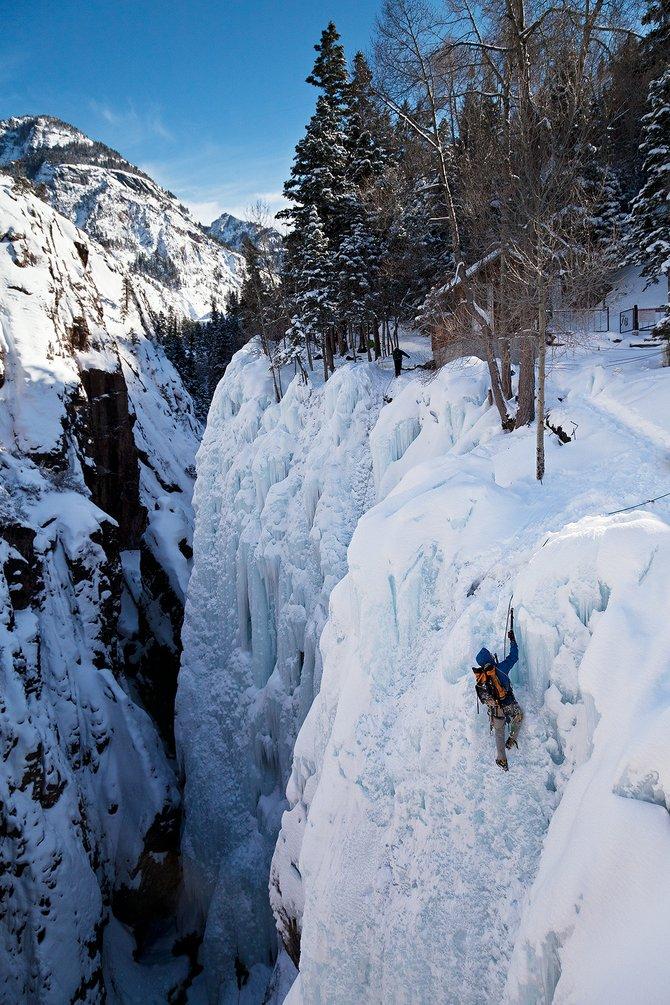 Daredevil Ice Climber