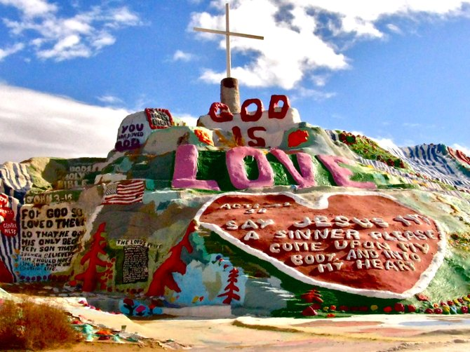 Salvation Mountain, CA: all you need is love. And paint.
