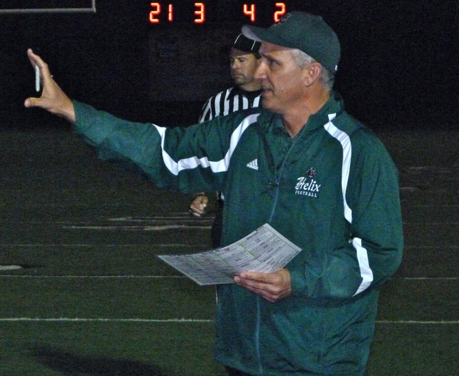 Helix head coach Troy Starr