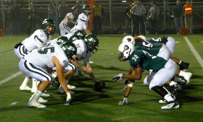 Poway lines up against Helix in the Division II semifinals