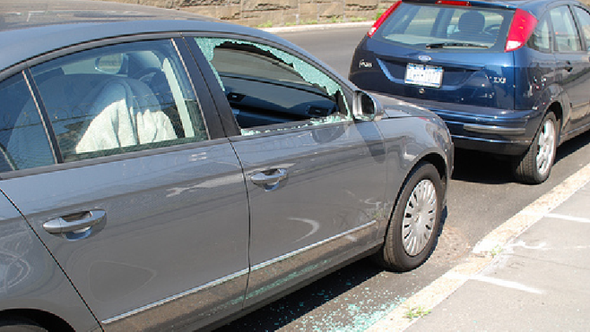 Despite the damage to vehicles, few incidents of property theft are reported.