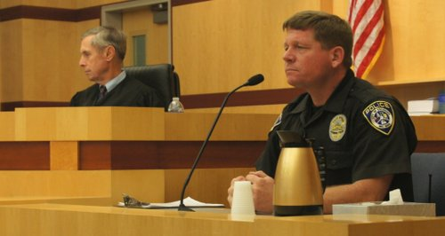 Officer Shaver testified.  Photo Weatherston.