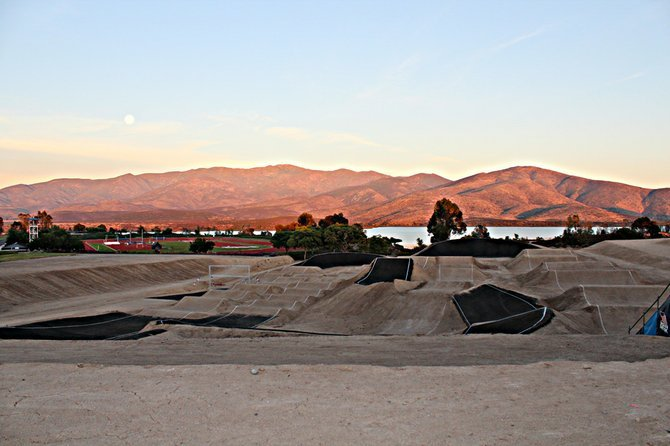BMX track created to train athletes before the London Olympics. (Olympic Training Center, Chula Vista)