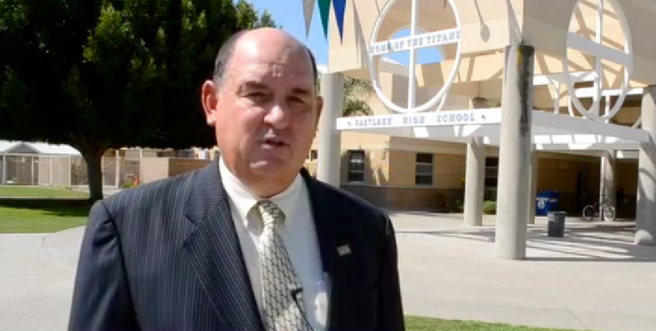 Sweetwater superintendent Ed Brand