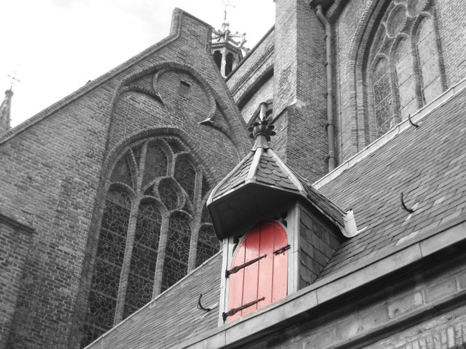 Oude Kerk (Old Church) in Delft, Netherlands